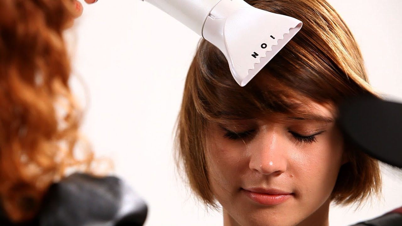 how to style hair with hair dryer straighten hair with dryer hairstyles 5443