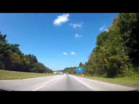 Driving from The Akron--Canton Airport to Brecksville, OH on I77