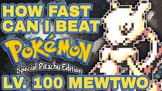 🔴 HOW FAST CAN I BEAT POKEMON YELLOW WITH A LEVEL 100 MEWTWO?