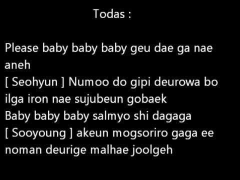 SNSD - Baby Baby Lyrics