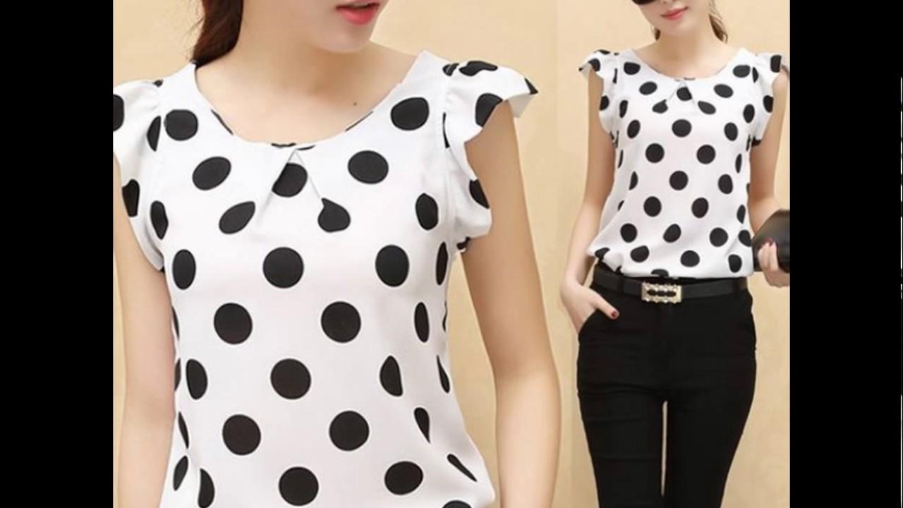 5c64923e4 MODELO de blusas con lunares♥
