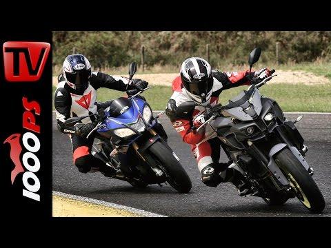 Aprilia Tuono V4 1100 RR vs. Yamaha MT-10 | Vergleichstest Rennstrecke