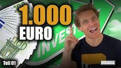 Wie würde ich jetzt 1.000 EUR investieren?