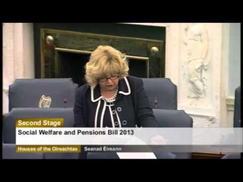 Senator Mary Moran speaking on the Social Welfare Bill 2013