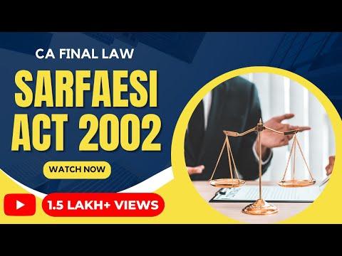 SARFAESI Act 2002 by CA Jaishree Soni for CA Final Law