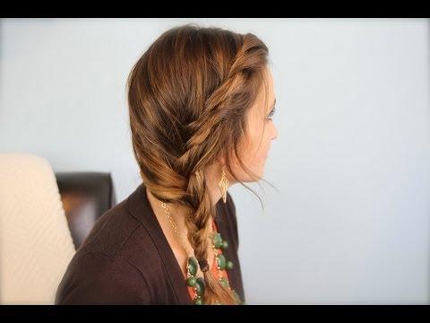 subtle twist side braid cute