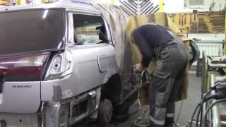 Кузовной ремонт. Субару, меняем крыло. Body repair.(Body repair. Кузовной ремонт автомобилей в гараже. Подробности на моем сайте. http://remontkuzova.blogspot.ru/ Комментарии..., 2016-11-05T17:29:10.000Z)