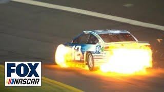 Ryan Blaney's car bursts into flames | 2018 CHARLOTTE | FOX NASCAR (VIDEO)