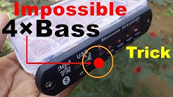 4×Bass Impossible Trick For Any Home Theater | amplifier bluetooth speaker usb sd mp3 player