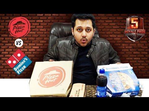 DOMINOS VS PIZZAHUT   Best pizza   ELITE PASS GIVEAWAY   4K thumbnail