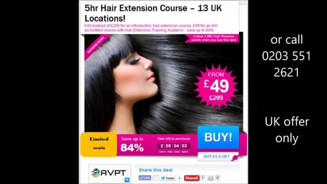 4999 For A 1 Day Hair Extension Training Course Wowcher Deal Uk