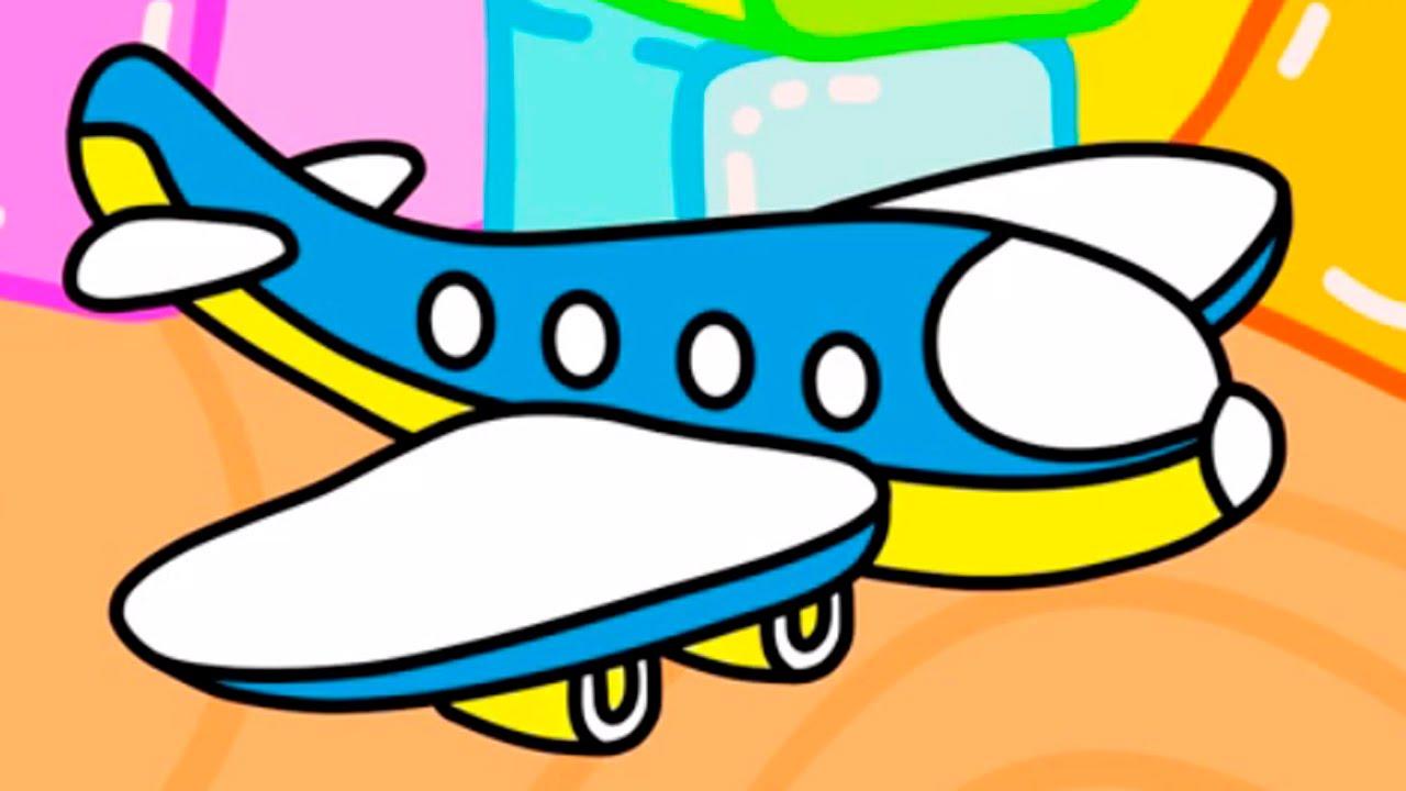 Cartoni animati per bambini scavatore e l aeroplano i