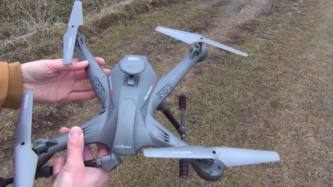 Бюджетный FPV квадрокоптер Sky Hunter Lian Sheng LS с наклоном камеры с пульта фото