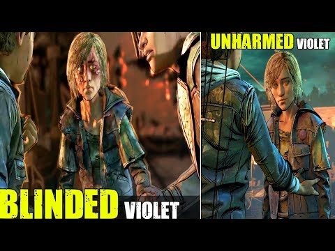 Violet Becomes Blind VS Unharmed Violet (All Choices) TWD The Final Season Episode 4