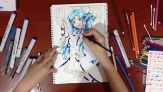 Drawing Asuna Yuuki ( ALO ver. ) from Sword Art Online