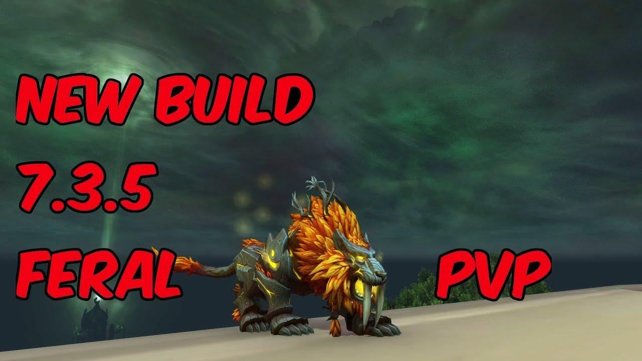 New Build 7 3 5 Feral Druid Pvp Wow Legion Youtube