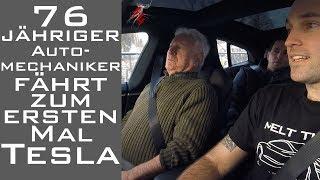 76 jähriger Automechaniker fährt zum ersten Mal Tesla Model S