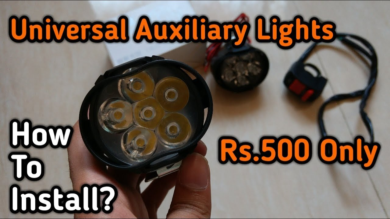 How To Install Auxiliary Fog Lights On Motorcycle And Scooters Rs Light Bar Wiring Diagram For 40 Led Rs500 Only