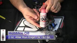 How to perform the after run procedure on a nitro RC engine
