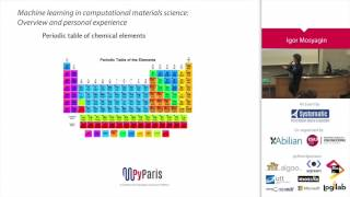 PyParis 2017 - Machine Learning in computational materials science by Igor Mosyagin