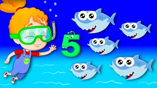 Learn the numbers with Baby shark song & Groovy The Martian Nursery Rhymes educational for children