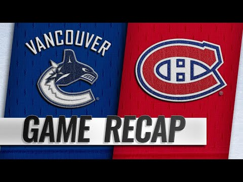 Price, Canadiens shut out Canucks in 2-0 victory