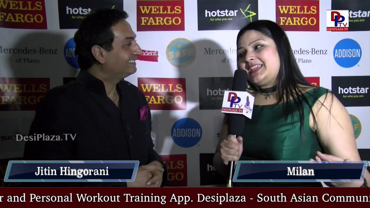 Jitin Hingorani, Director of DFWSAFF 2018 speaks to Desiplaza TV - Host : Milan || RedCarpet Opening