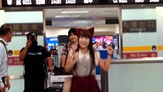 2011.08.02 AKB48高橋みなみ來台接機.