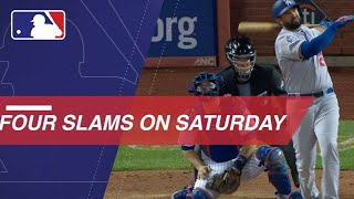 All four grand slams hit on Saturday