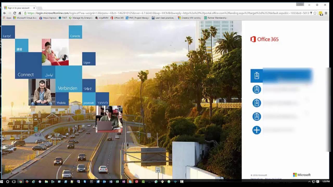 log into office 365 portal