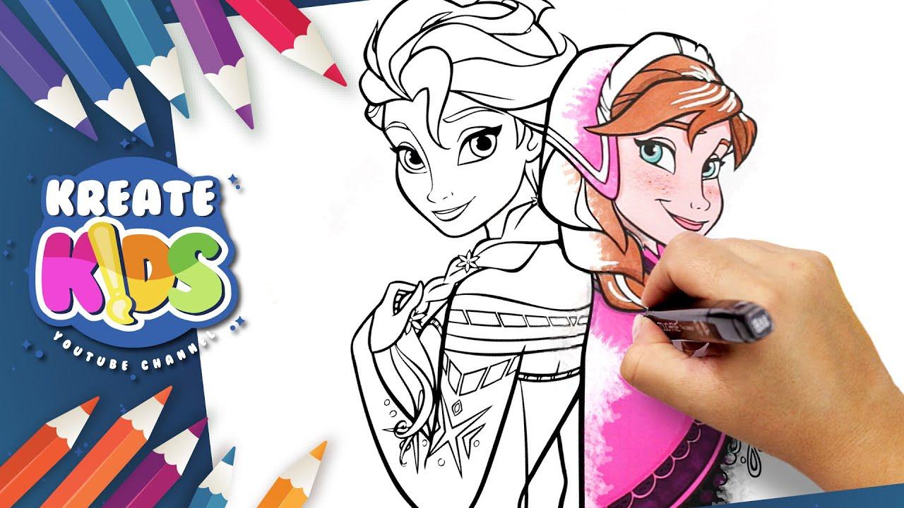 Frozen Elsa Anna Disegni Da Colorare Coloring Pages