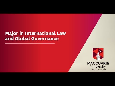 Law at Macquarie: International Law and Global Governance