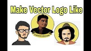 Comment créer un logo comme BB ki Vignes et carryminati | à l'aide de corail draw x7 | toturial.