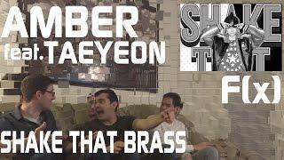 Amber Feat. Taeyeon - Shake That Brass Music Video Reacton, Non-kpop Fan Reaction [hd]
