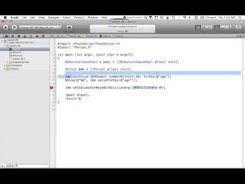 Objective-C on the Mac L26 - Key-Value Coding