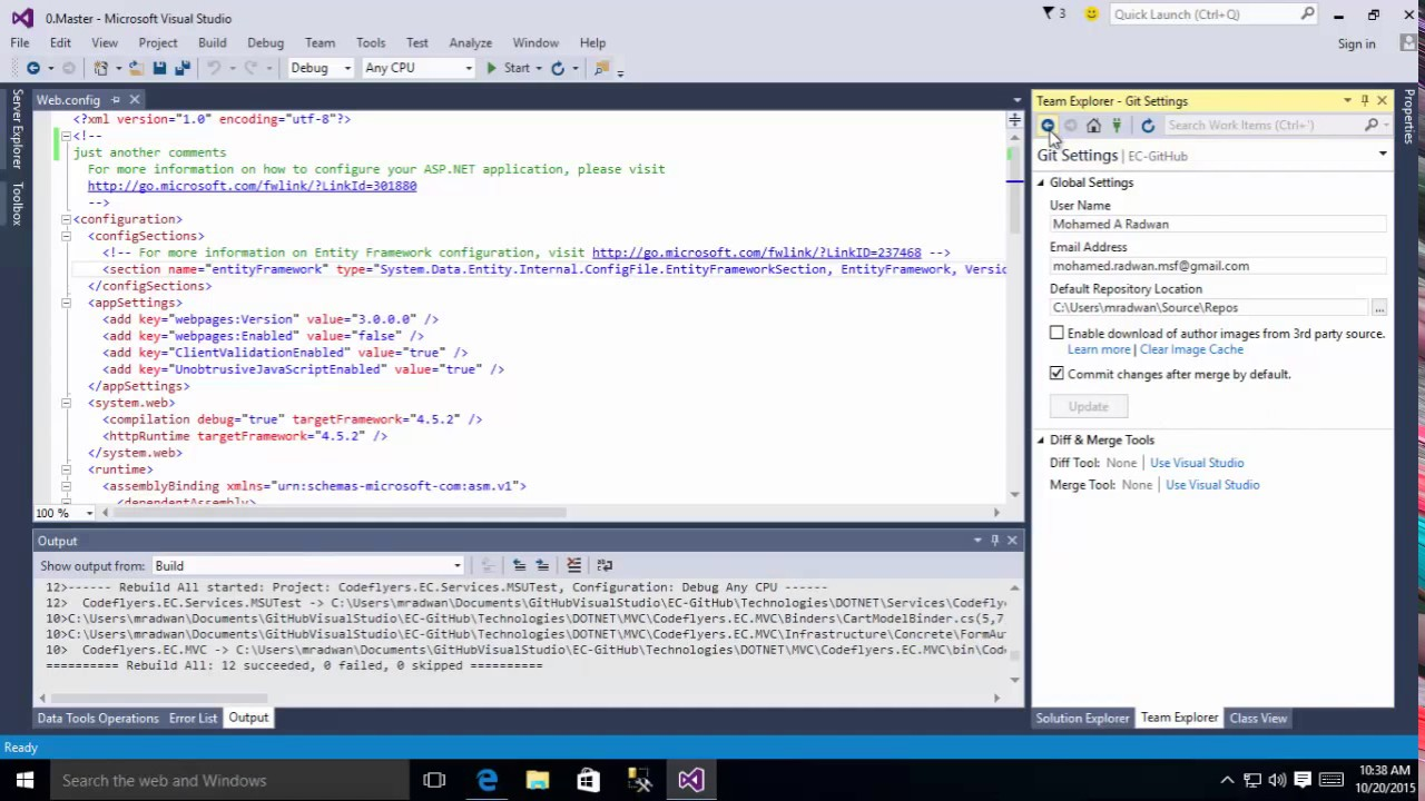 How to contribute and make a pull request from Codeflyers using Visual  Studio 2015