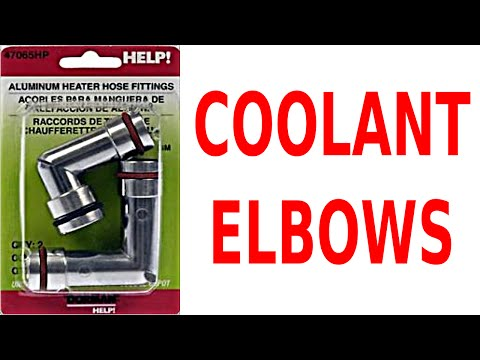 replace cooling system fittings - fix coolant bypass elbow leaks gm 3800 v6  3 8 l engine 3 8l cars - youtube