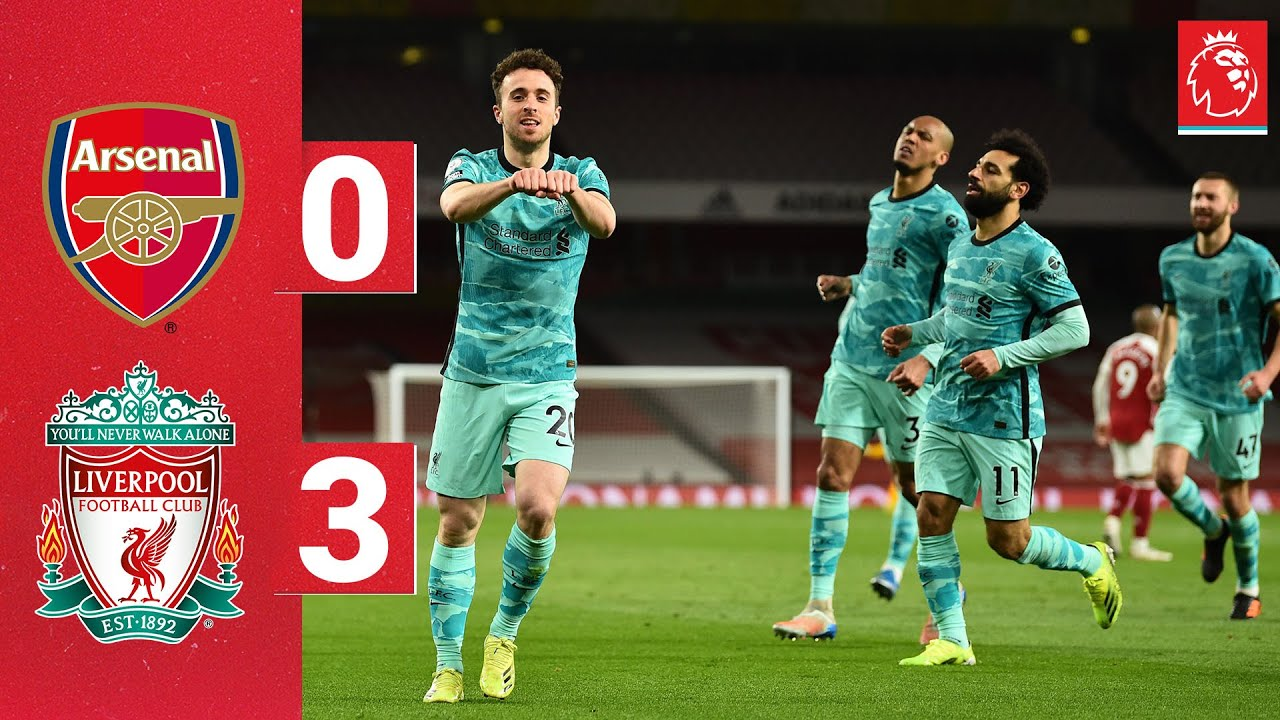 Download Highlights: Arsenal 0-3 Liverpool | Jota's brace and a Salah special win it at the Emirates