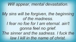 Edge Of Sanity - The Sinner And The Sadness Lyrics
