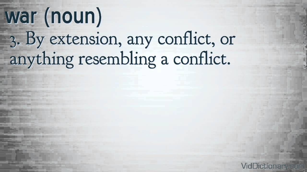war - definition
