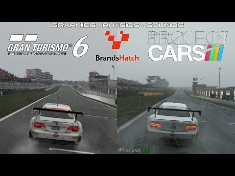 Project CARS Vs GT6 - BMW M3 GT @ Brands Hatch Rain