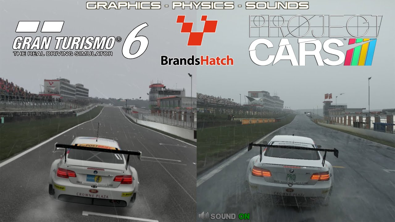 project cars vs gt6 bmw m3 gt brands hatch rain youtube. Black Bedroom Furniture Sets. Home Design Ideas