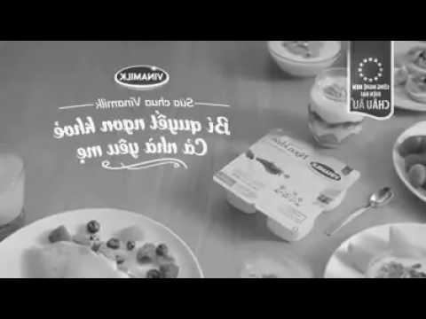 Quảng cáo sữa chua Vinamilk chậm trắng đen phiên bản lật tua ngược ♡