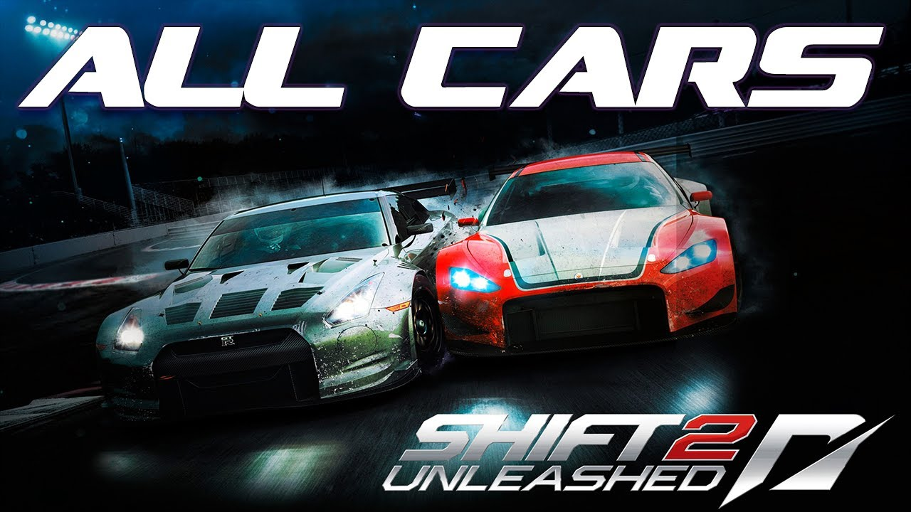 Need for speed shift 2 unleashed all in game cars 1080p