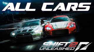 Need For Speed Shift 2 Unleashed - All in-game cars [1080p]