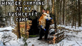 Winter Camping at My Bushcraft Camp