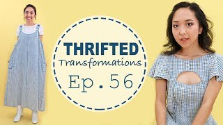 Gingham Overall Dress | Thrifted Transformations Ep. 56