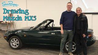 Live drawing the Mazda MX5 with Tom Montano - original car designer!