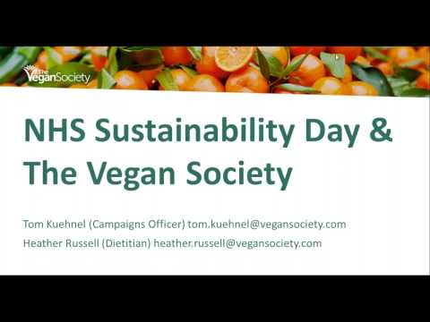 NHS Sustainability Day Vegan Society webinar
