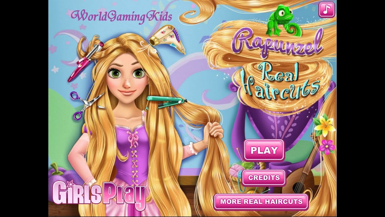 Princess Rapunzel Real Haircuts - Games for Kids - Girl ...